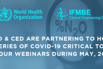 WHO & CED COVID-19 Critical Topic Webinars
